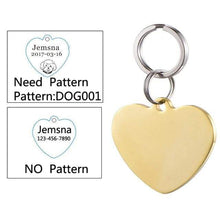 Load image into Gallery viewer, Personalized Engraved Anti-lost SS Cat ID Tags