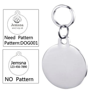 Personalized Engraved Anti-lost SS Cat ID Tags