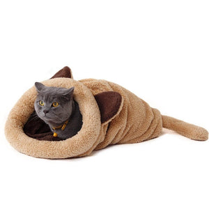 Cat Bed Sleeping Bag Warm Comfortable Kitten Winter Nest Cushion Pets