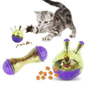 Interactive Cat Toy IQ Treat Ball Smarter Pet Food Ball Food Dispenser