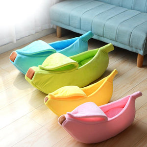 Banana Shaped Pet Bed For Cats