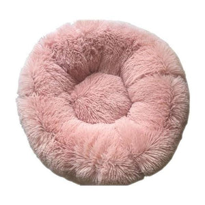 Round Plush Pet Cat Bed House Soft Cats Bed Winter Warm Sleeping Mat