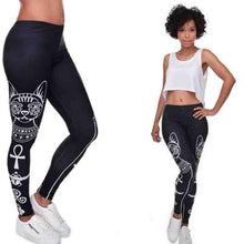 Load image into Gallery viewer, Women Leggings Egyptian Cat Print Skinny Workout Fitness Long Sporting