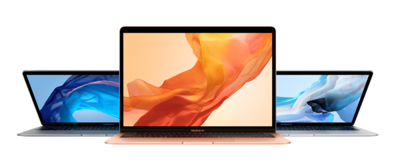 "Apple 2018 MacBook Air 13"" in Gold Silver and Space Gray"