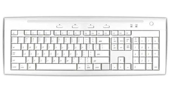Macally USB 2.0 Keyboard with 2 USB Ports