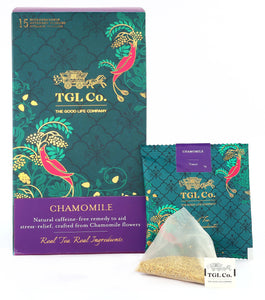 TGL Chamomile Tea Bags, 16 Tea Bags (15 Tea Bags + 1 Exotic Sample) Tisane Tea |Chamomile Herbal Tea
