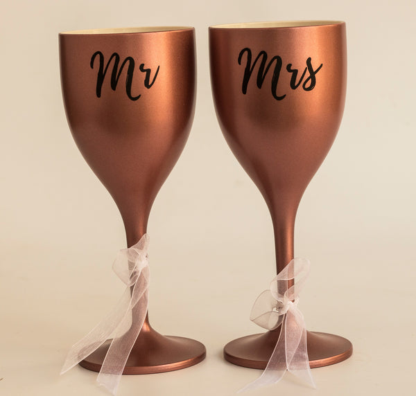 Unbreakable Polycarbonate Soul Mates Wine Glasses
