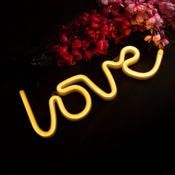 3D Love Shaped Neon Lamp