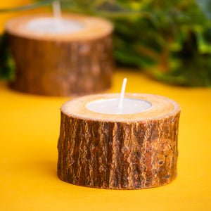 Wooden Log T- Light