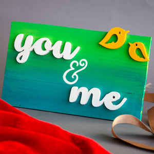 """You & Me"" Wooden Frame"
