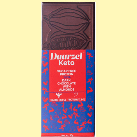 65% Sugar free Dark Chocolate with Almonds