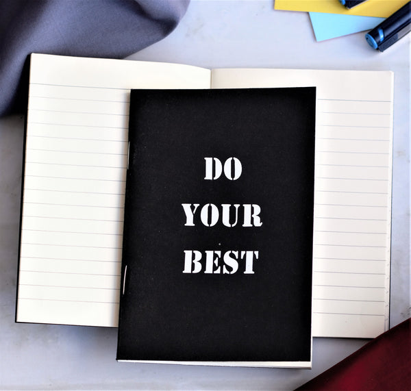 'Do Your Best' A6 Notebook - Set of 2