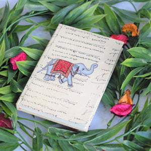 Handmade Paper Notebook - Elephant Design