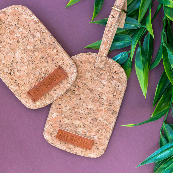 Luggage Tag (Cork) - Set Of 1