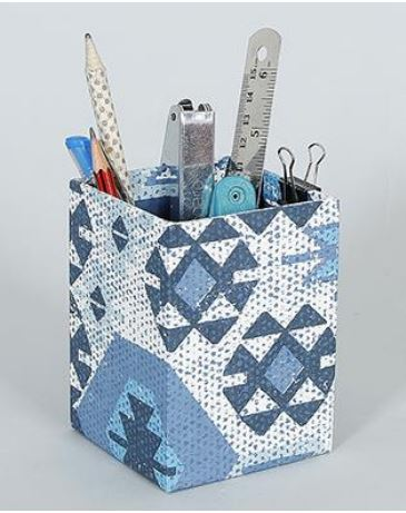 Blue and White Pen Stand