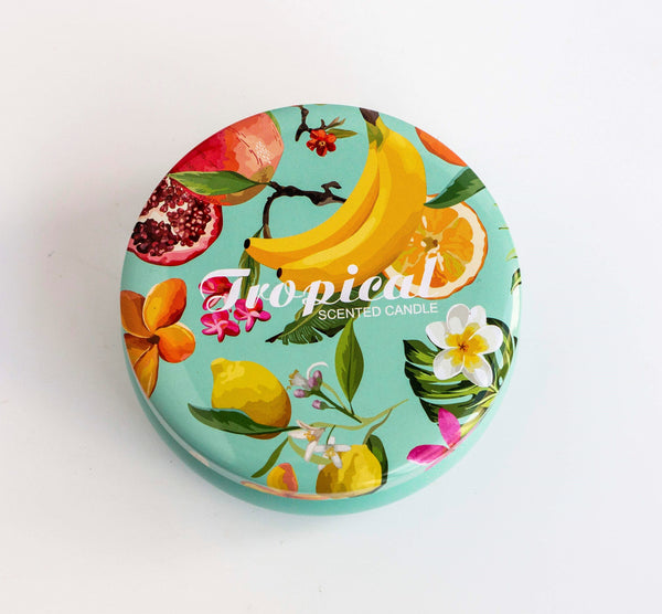 Tropical Scented Soy Tin Candle