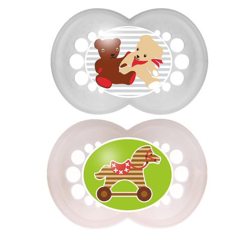 MAM AFD2303 MAM TWIN ORIGINAL PACIFIER SILK TEAT +6MTHS