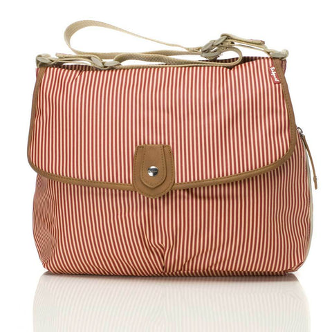 Babymel Satchel Stripe Red