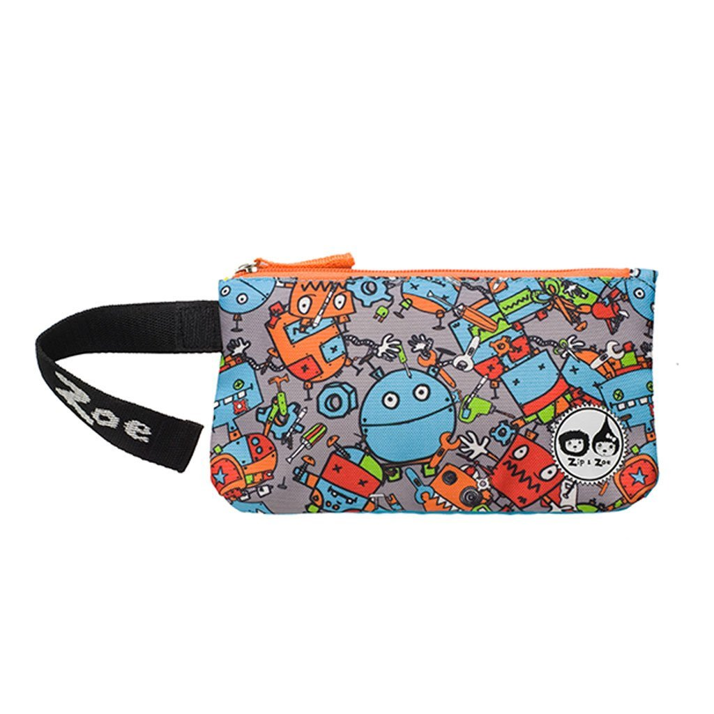 Zip n Zoe Pencil Case Robot Blue