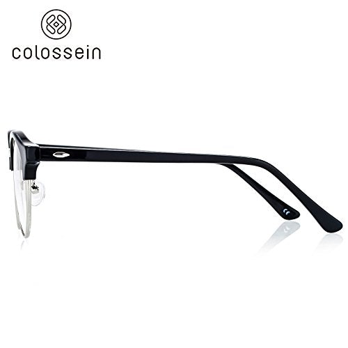 COLOSSEIN Ultra Quality Hand Made Acetate Round Eyewear Frame - Colossein Fashion polarized Sunglasses Vintage  Retro handcraft for men women