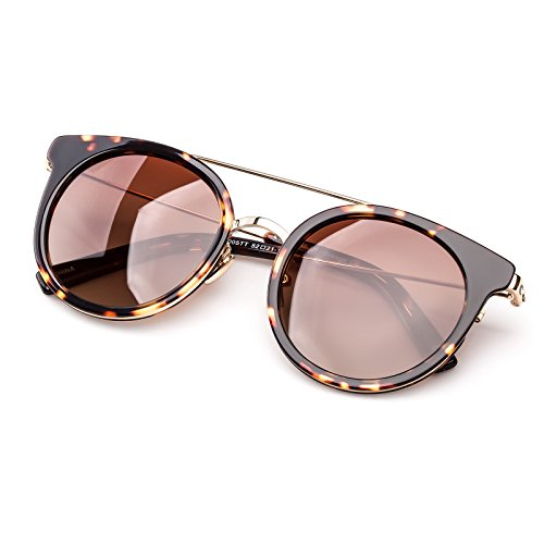 Colossein Fashion Sunglasses For Women Hand Made Acetate Round Frame With Polarized Lens - Colossein Fashion polarized Sunglasses Vintage  Retro handcraft for men women