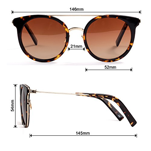 af1ae45f2c Colossein Fashion Sunglasses For Women Hand Made Acetate Round Frame With Polarized  Lens - Colossein Fashion