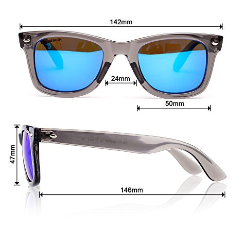 Retro Classic Sunglasses For Men Women Rivet Trim UV400 For Small Face By Blue Label - Colossein Fashion polarized Sunglasses Vintage  Retro handcraft for men women