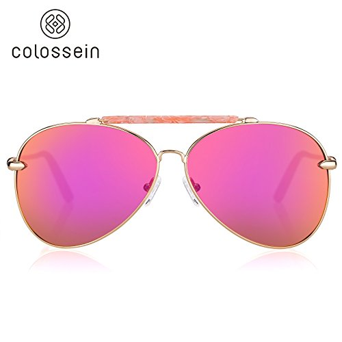 Colossein Oversized Polarized Sunglasses,Ultra Quality Metal Frame,Hand Made Acetate,Suit for Fashion Women - Colossein Fashion polarized Sunglasses Vintage  Retro handcraft for men women
