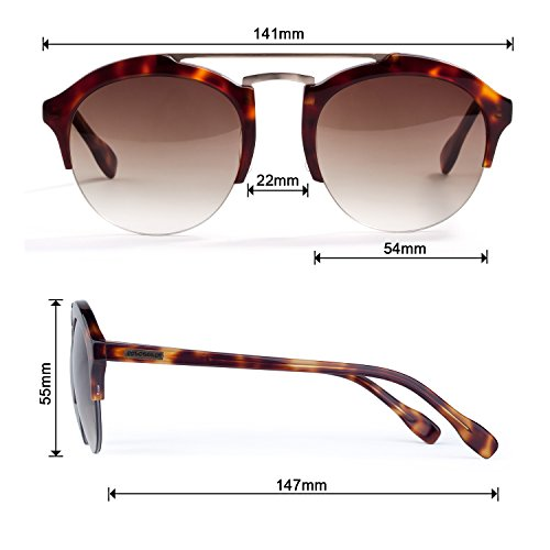 Colossein Unisex Classic Sunglasses,Acetate Round Frame With HD Nylon Lens,UV 400 - Colossein Fashion polarized Sunglasses Vintage  Retro handcraft for men women