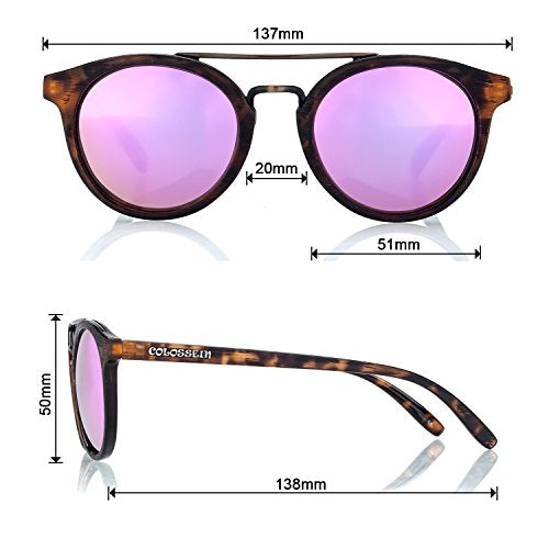 Vintage Fashion Sunglasses for women,Ultra Quality Hand Made Acetate Frame,Polarized Lens - Colossein Fashion polarized Sunglasses Vintage  Retro handcraft for men women