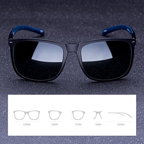 COLOSSEIN Polarized Sunglasses for men TR90 with Silicon Materials Frame,Super Light - Colossein Fashion polarized Sunglasses Vintage  Retro handcraft for men women