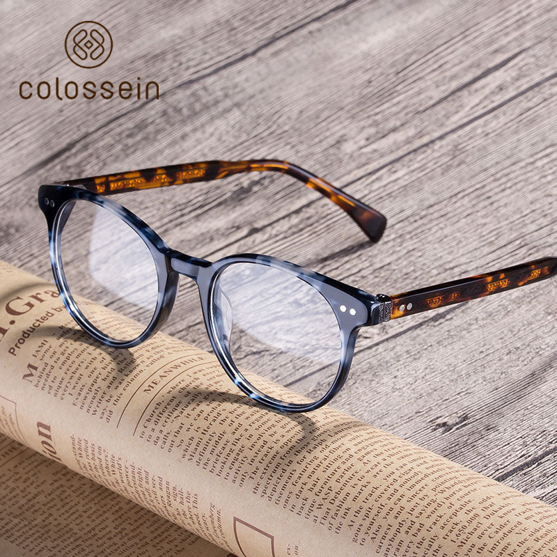 Classic Style Vintage Handcrafted Acetate Eyewear Frame - Colossein Fashion polarized Sunglasses Vintage  Retro handcraft for men women