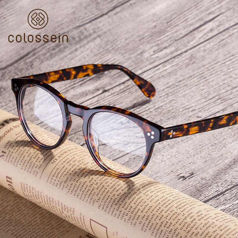Classic Style Handcrafted Acetate Eyewear Frame - Colossein Fashion polarized Sunglasses Vintage  Retro handcraft for men women