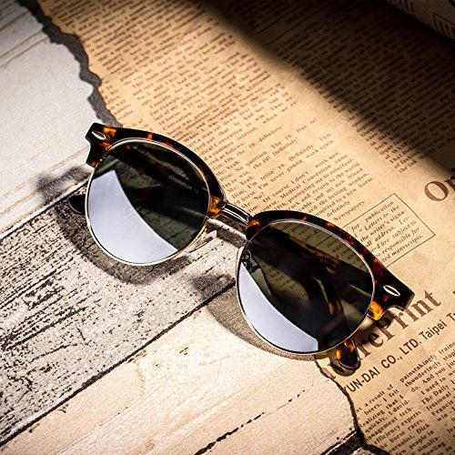 Fashion Sunglasses,Acatate Frame With Polarized Silver Lens,100% UVA/UVB Protection,For Women - Colossein Fashion polarized Sunglasses Vintage  Retro handcraft for men women