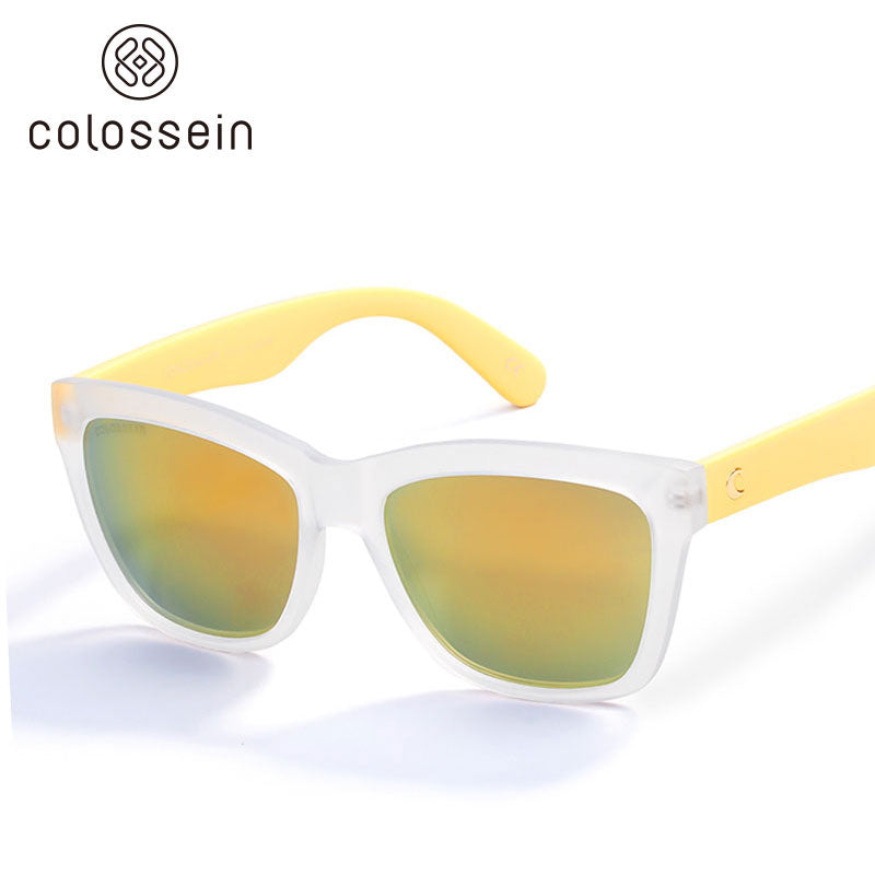 COLOSSEIN Summer Beach Googles Style Eyewear Square Frame Mirrored Lens Sunglasses - Colossein Fashion polarized Sunglasses Vintage  Retro handcraft for men women