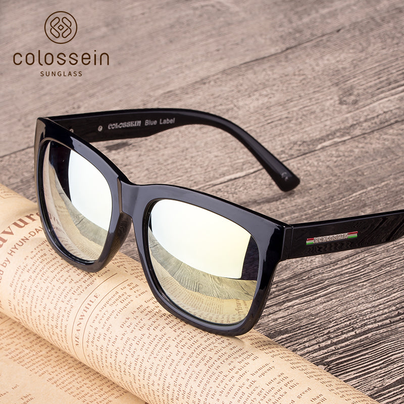 Classic Summer Black Square Frame Polarized Fashion Sunglasses - Colossein Fashion polarized Sunglasses Vintage  Retro handcraft for men women