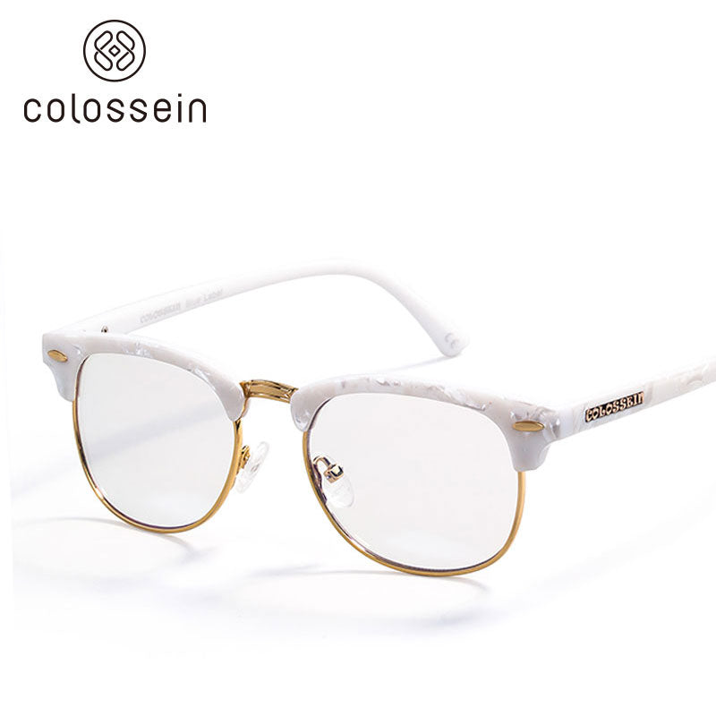 COLOSSEIN Classic Oval Style Round Eyewear Frame - Colossein Fashion polarized Sunglasses Vintage  Retro handcraft for men women