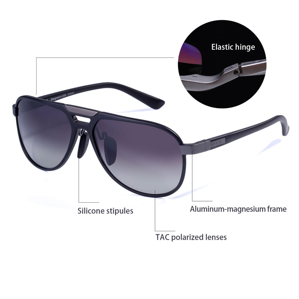 COLOSSEIN MSTAR POLARIZED SUNGLASSES FOR MEN,ALUMINUM FRAME UV400 LENSES - Colossein Fashion polarized Sunglasses Vintage  Retro handcraft for men women