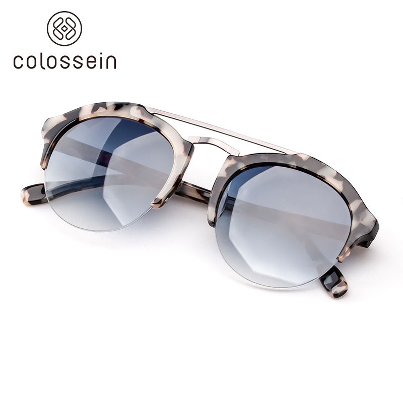 COLOSSEIN Handmade Acetate Fashion Sunglasses with Blue HD Lens for Women - Colossein Fashion polarized Sunglasses Vintage  Retro handcraft for men women