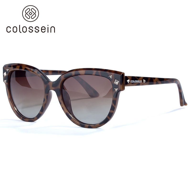 COLOSSEIN Street Fashion Oversized Black Frame Polarized Sunglasses - Colossein Fashion polarized Sunglasses Vintage  Retro handcraft for men women