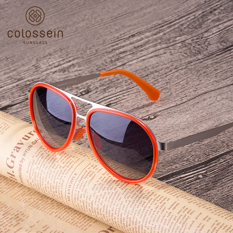 COLOSSEIN Retro Polarized Goggle Oval Lens Street Fashion Sunglasses - Colossein Fashion polarized Sunglasses Vintage  Retro handcraft for men women