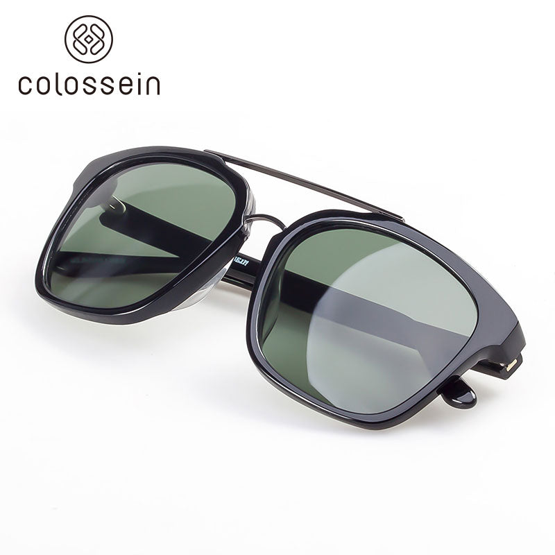 Classic Square Frame Polarized Lenses Fashion Sunglasses - Colossein Fashion polarized Sunglasses Vintage  Retro handcraft for men women