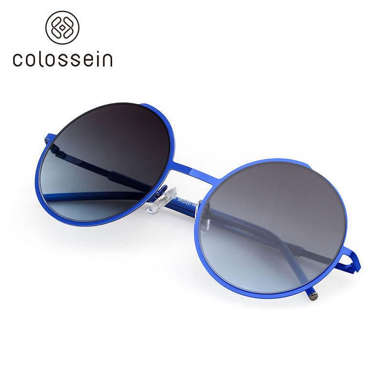 COLOSSEIN Retro Round Metal Frame Street Fashion Sunglasses - Colossein Fashion polarized Sunglasses Vintage  Retro handcraft for men women