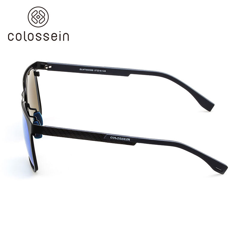 Colossein Metal Frame Carbon Fibre Light Weight Polarized Sunglasses for men - Colossein Fashion polarized Sunglasses Vintage  Retro handcraft for men women