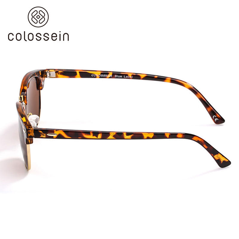 COLOSSEIN Retro Round Eyewear Classic Polarized Fashion Sunglasses - Colossein Fashion polarized Sunglasses Vintage  Retro handcraft for men women