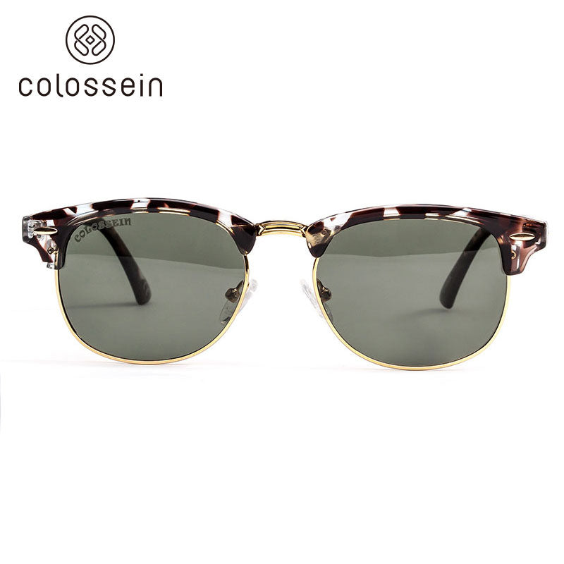 COLOSSEIN Retro Round Eyewear Classic Fashion Polarized Sunglasses - Colossein Fashion polarized Sunglasses Vintage  Retro handcraft for men women