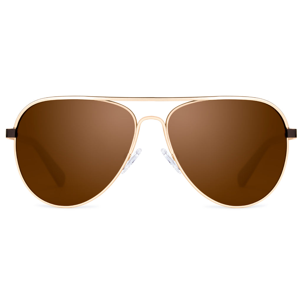 Classic Sunglasses with Polarized Lens Brown Colors Super Light Weight