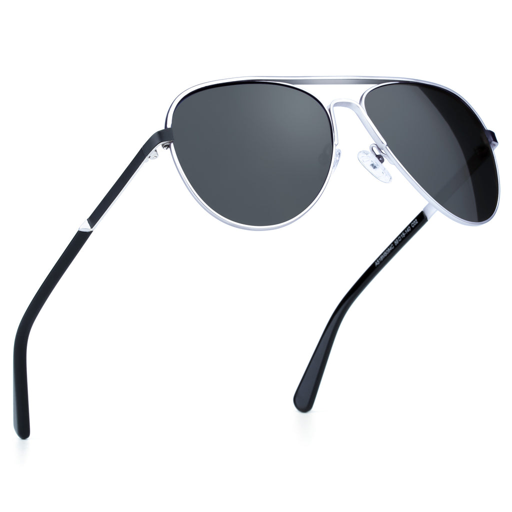 Classic Sunglasses with Polarized Lens Silver Colors Super Light Weight