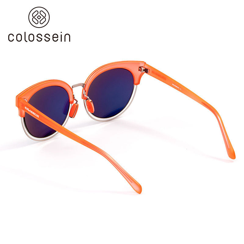 COLOSSEIN TR Frame Polarized Mirror Lens Fashion Sunglasses - Colossein Fashion polarized Sunglasses Vintage  Retro handcraft for men women
