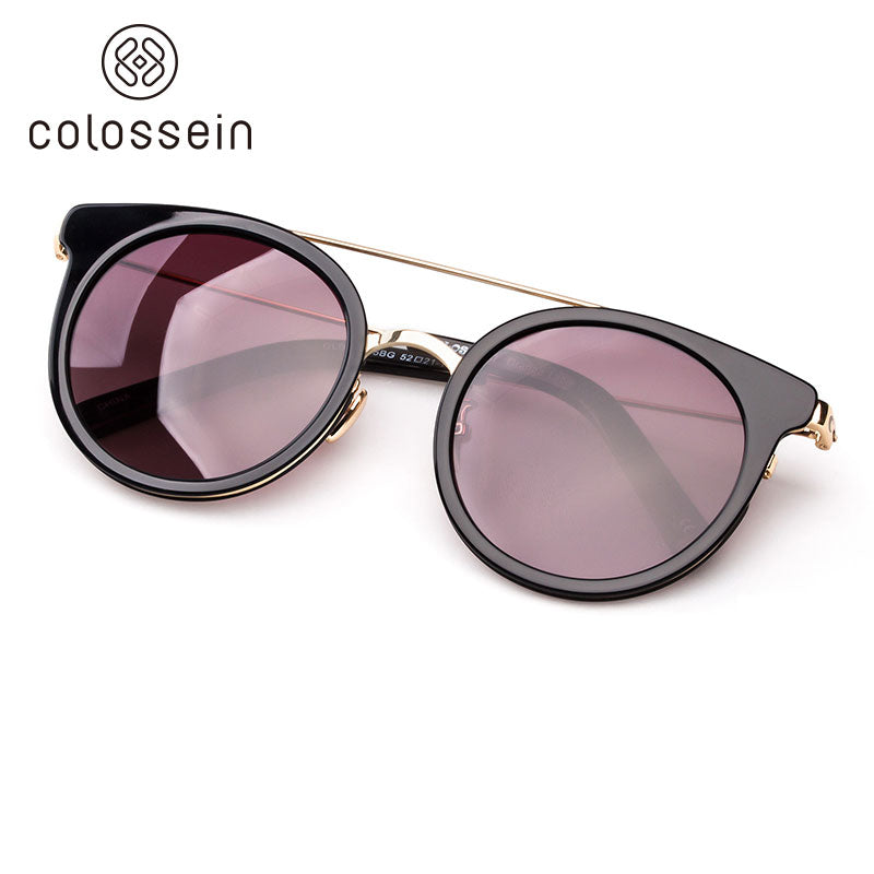 COLOSSEIN Vintage Cat Eye Style Polarized Fashion Sunglasses For Women - Colossein Fashion polarized Sunglasses Vintage  Retro handcraft for men women
